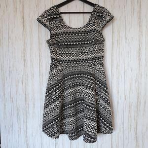 Mossimo | Black & White Tribal Print Skater Dress